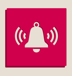 Ringing bell icon grayscale version of vector