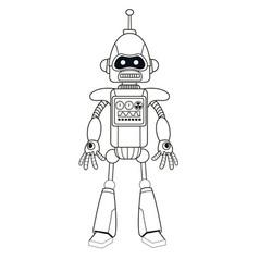 robot machine engineering thin line vector image