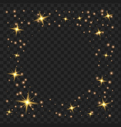 Round yellow glow light effect stars bursts with vector