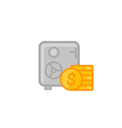 safe and money icon isolated on white vector image