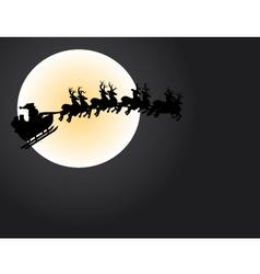 Santa and the moon vector