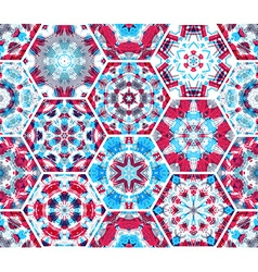 Seamless pink and blue textile pattern vector