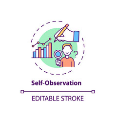 Self observation concept icon vector