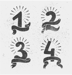 set of anniversary numbers design vector image