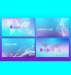 set web page design templates for medicine vector image