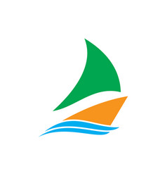 ship wave icon logo vector image