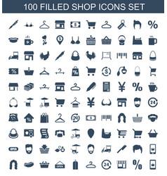 Shop icons vector