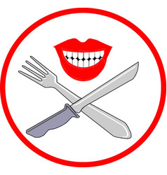 Sign of foods vector