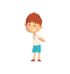 smiling little boy kid having fun at playground vector image