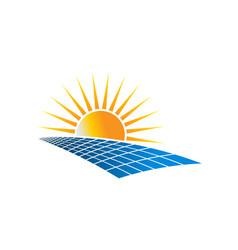Solar power energy logo vector