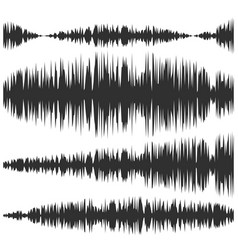 sound waves set screen equalizer musical vector image