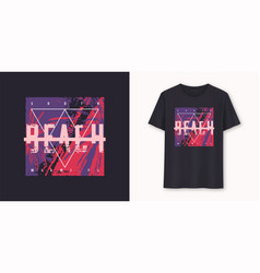 south beach miami stylish graphic t-shirt vector image
