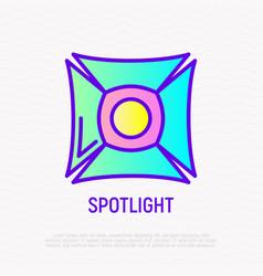 spotlight thin line icon vector image