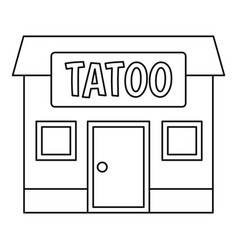 tattoo salon building icon outline vector image