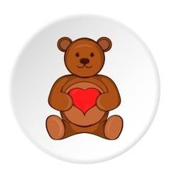 Toy bear icon cartoon style vector