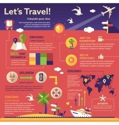 Travel Infographics - poster brochure cover vector image