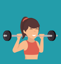 Woman athlete avatar icon vector