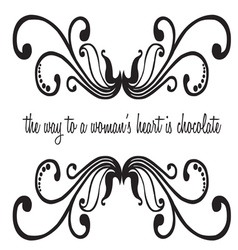 Woman Chocolate Saying vector