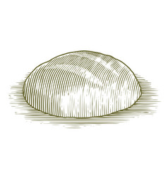 Woodcut sourdough bread loaf vector