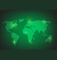world map background on green vector image
