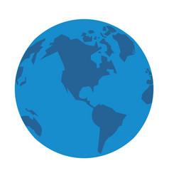 world map international globe cartoon vector image