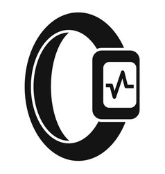 wristband heart beat icon simple style vector image