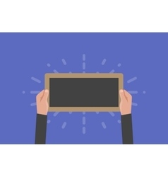 Hand holding sign board vector image