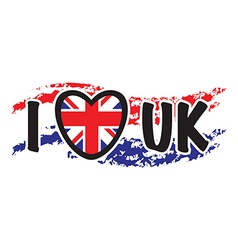 i love uk vector image vector image