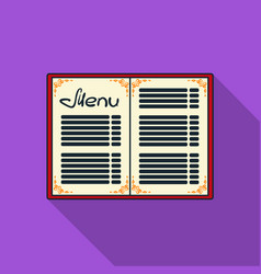 menu of the restaurant icon in flat style isolated vector image vector image
