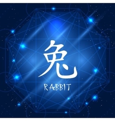 Chinese Zodiac Sign Rabbit vector image