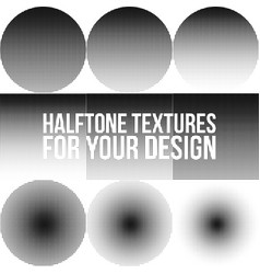 collection of gradient dotted halftone textures vector image vector image