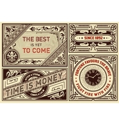Old advertisements pack- Vintage vector image vector image