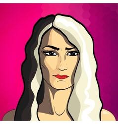 Woman fashion portrait vector image
