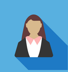 Business woman icon business concept vector