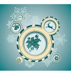 Christmas background with retro bubbles vector image vector image
