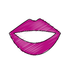 Female lips isolated icon vector
