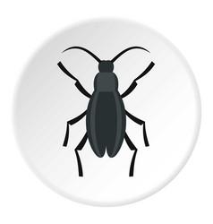 gray beetle icon circle vector image vector image