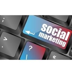 social marketing or internet marketing concepts vector image
