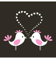 two love birds vector image vector image