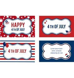 4th of july labels or cards vector image vector image