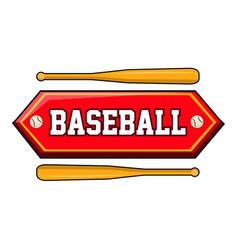 baseball logo with bats vector image
