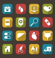 Collection Trendy Flat Medical Icons vector image vector image