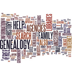 free genealogy search site text background word vector image