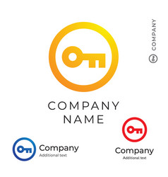 key logo modern simple and clean identity brand vector image vector image