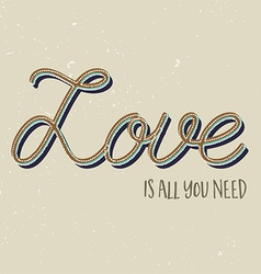 Love is all you need background vector image