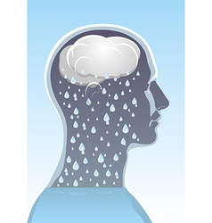 Mental health Headache vector image vector image