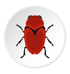 red beetle icon circle vector image vector image