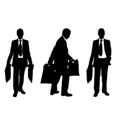 silhouettes of people with shopping bags vector image vector image