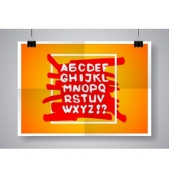 White English alphabet on a bright background vector image