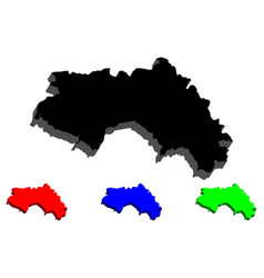 3d map of guinea vector image